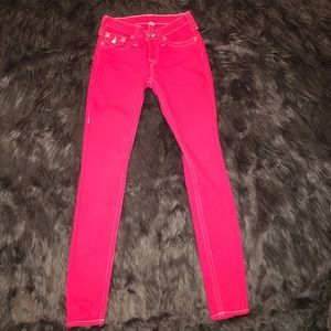 Hot pink True Religion Jeans